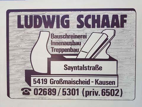 Gründung Schreinerei Ludwig Schaaf