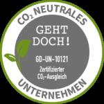 Umweltsiegel CO2-neutrale Produktion für die Tischlertekten