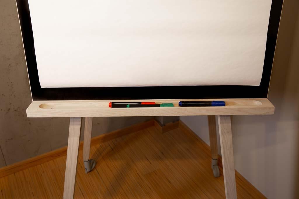 Flipchartablage für Stifte