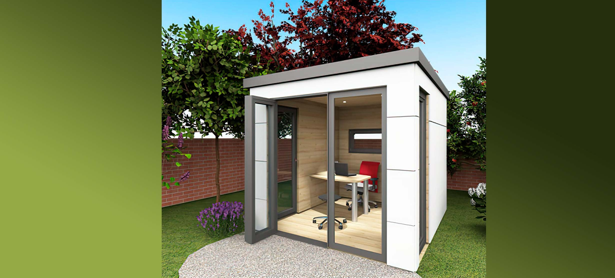 homeoffice homebox, der Büro-Raum im Garten.